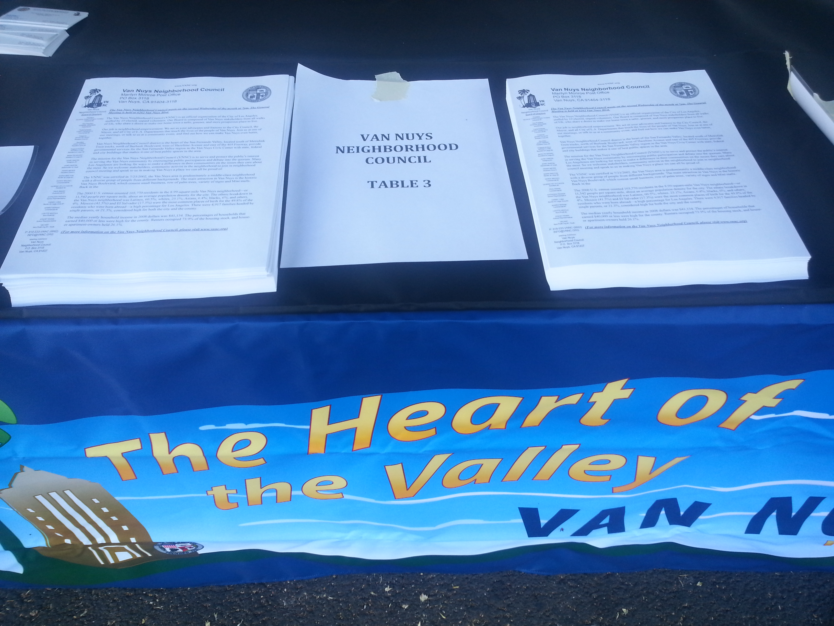 VNNC Event Table