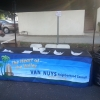 The new VNNC table cover at the Van Nuys Health Fair 2014
