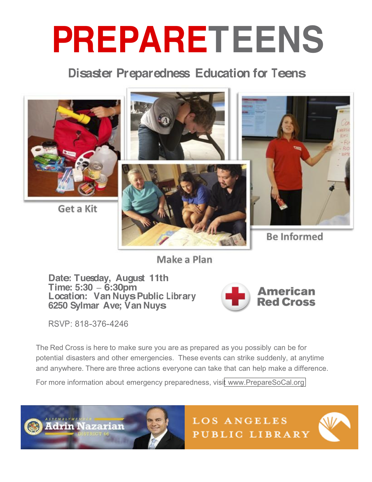 Aug. 11Prepare Teens
