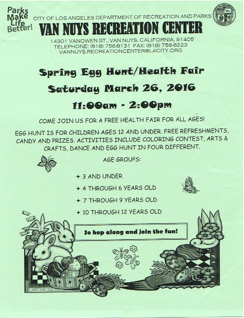Easter egg hunt at Van Nuys Park