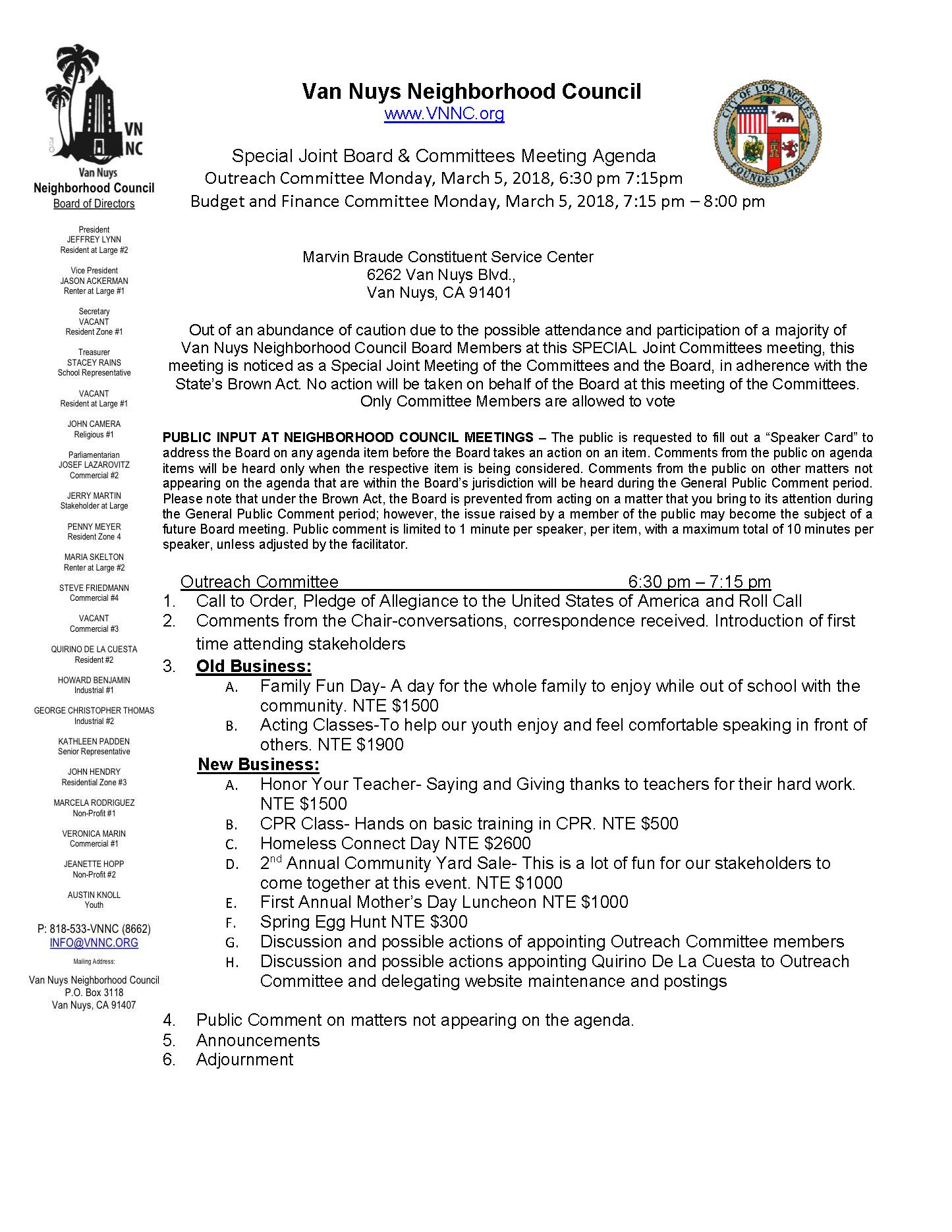 Van nuys neighborhood council the van nuys neighborhood council link agenda with supporting documents 1betcityfo Choice Image