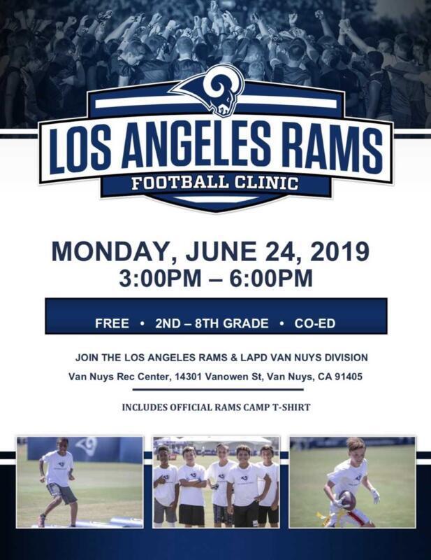 Los Angeles Rams Football Clinic