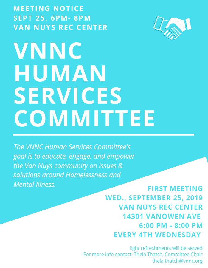Human Services Announcemet