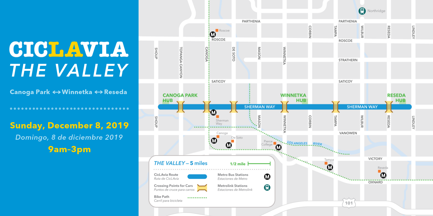 CicLAvia the valley map