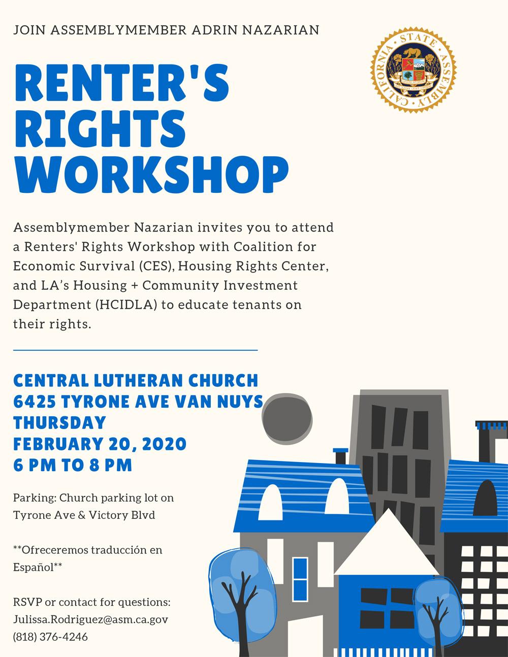 Renter's Rights Workshop