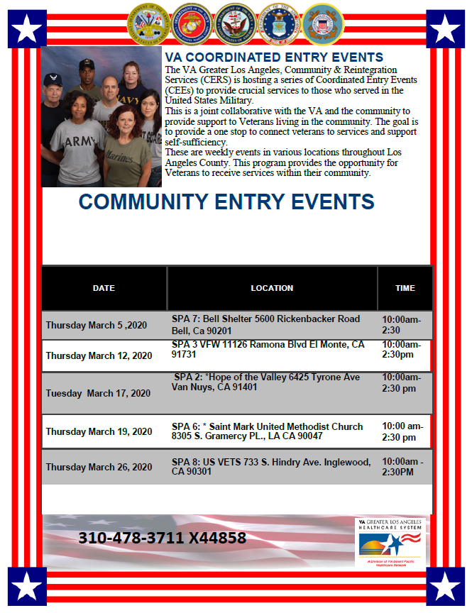 VA coordinated entry events