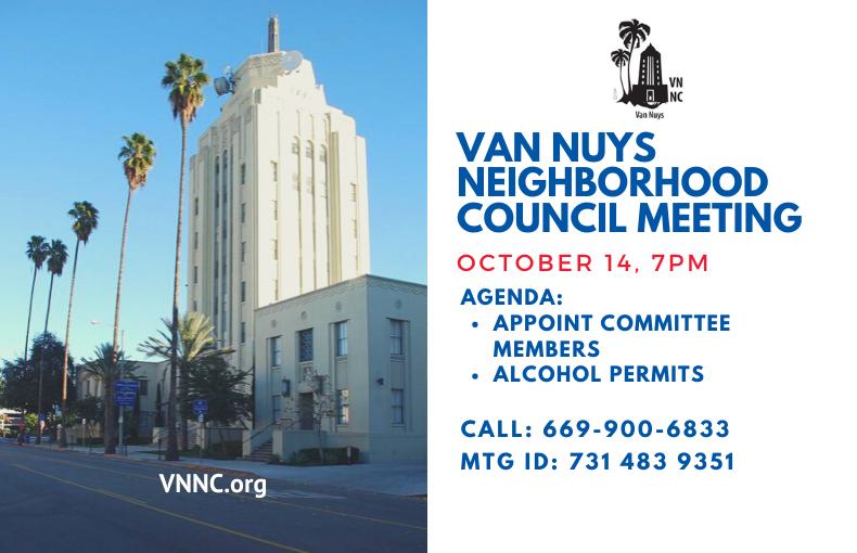 Van Nuys Meeting Announcement