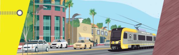 graphic of metro on van nuys blvd.