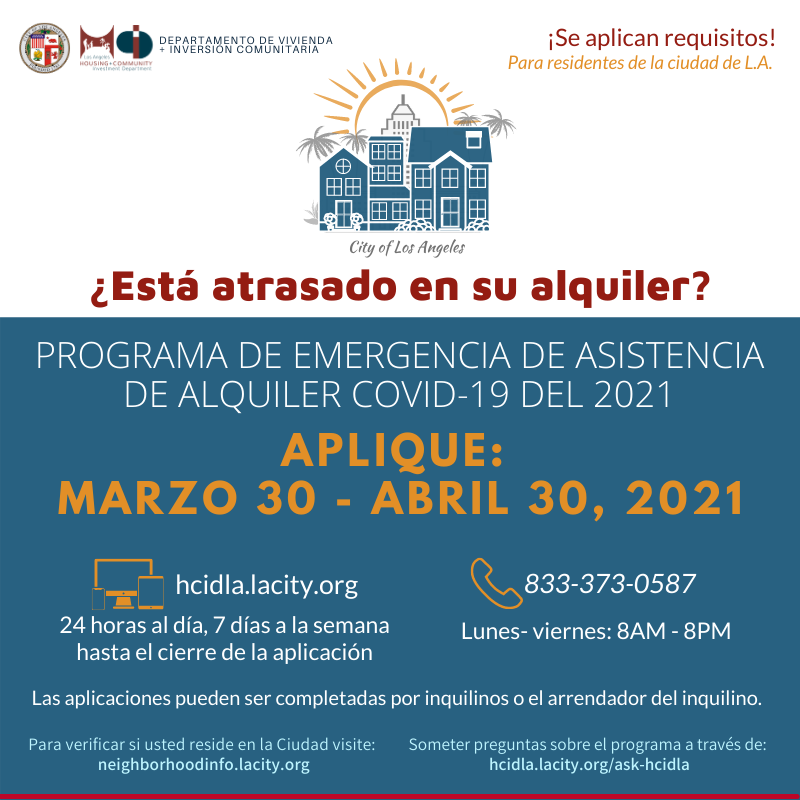 Apply for Rental Assistance by April 30