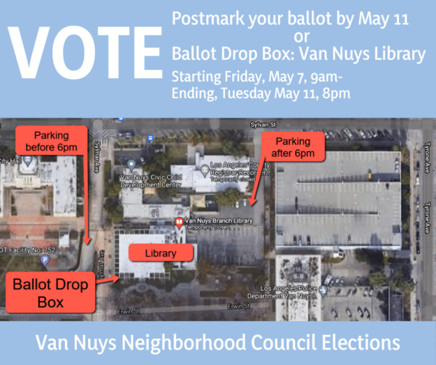 Vote drop box map