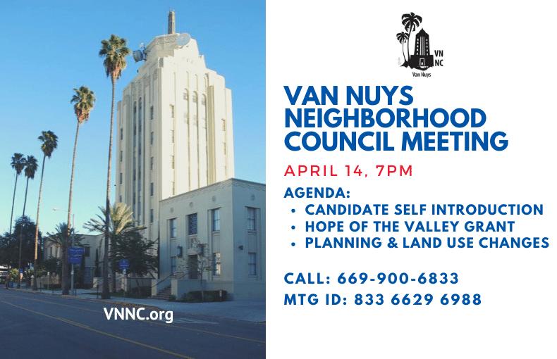 Van Nuys Neighborhood Council Meeting