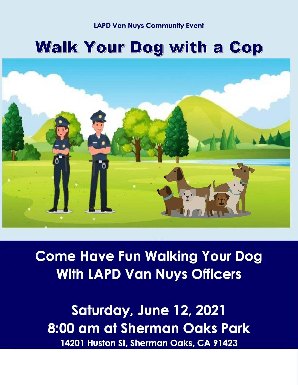 walk dog with cop
