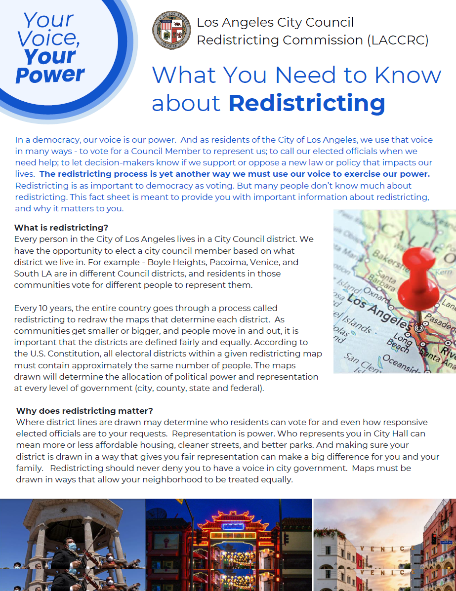 about redistricting