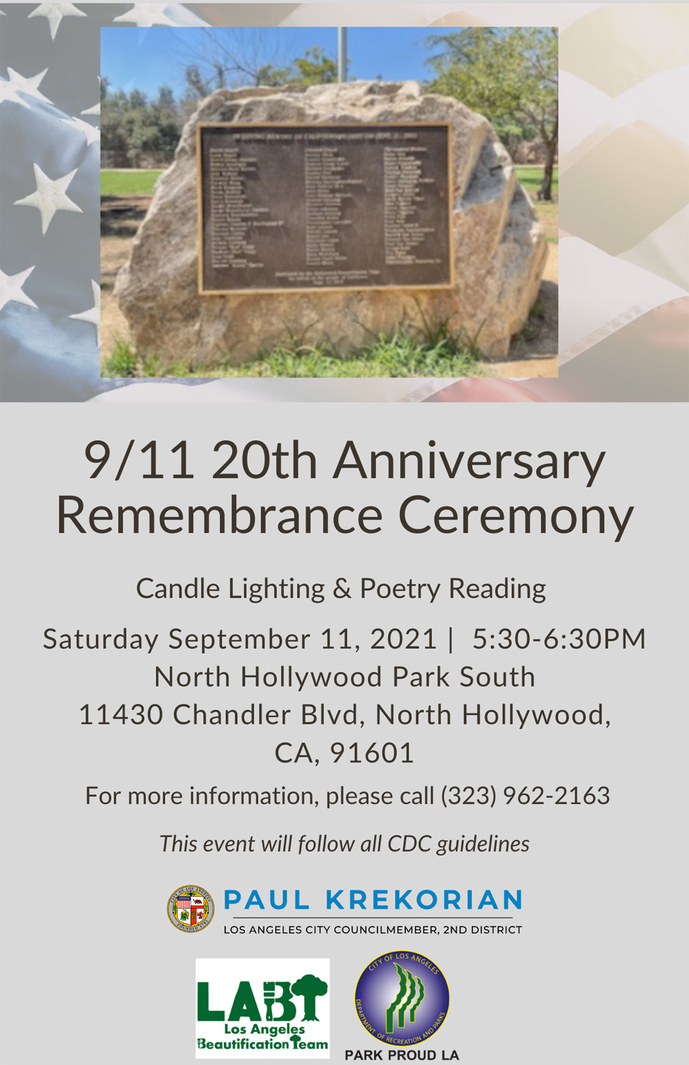 9/11 20th Anniversary Remembrance Ceremony