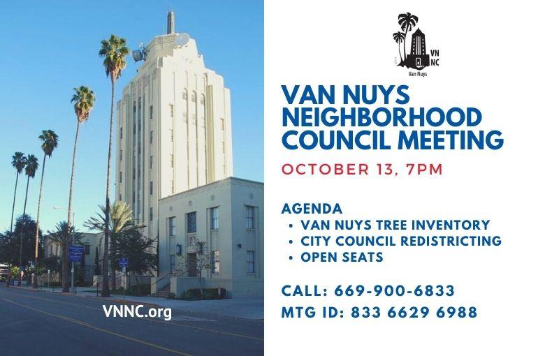 Van Nuys Meeting Notice October