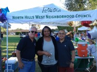 Department of Neighborhood Empowerment (DONE) rep. Jay Handel with VNNC board member Maria Skelton and Brian Gavidia