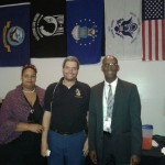 VNNC Board Members Maria Skelton and Jerry Martin with guest at the Veteran Day Celebration event